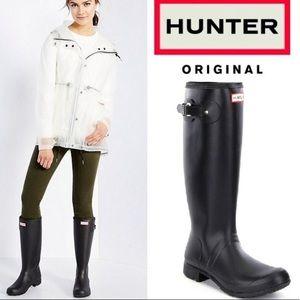 Hunter Original tall black rain boots
